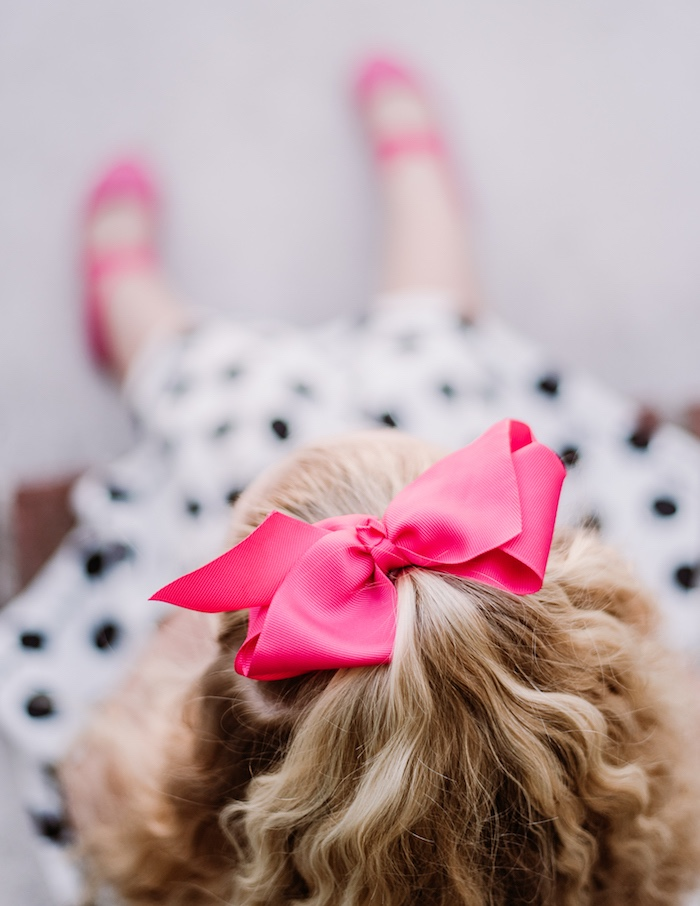 728177fab Hot Pink Bow from a Barbie 5th Birthday Party on Kara's Party Ideas |  KarasPartyIdeas.