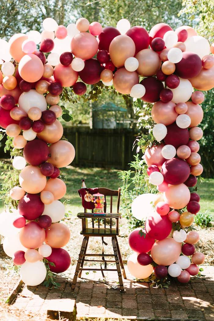 Burgundy & Blush Little Pumpkin Birthday Party on Kara's Party Ideas | KarasPartyIdeas.com (25)