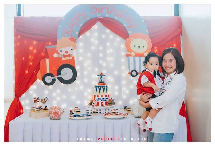 Circus Themed Dessert Table from a Carnival Animal Birthday Party on Kara's Party Ideas | KarasPartyIdeas.com (26)