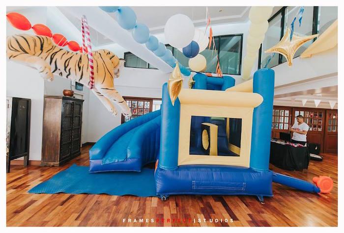 Bounce House from a Carnival Animal Birthday Party on Kara's Party Ideas | KarasPartyIdeas.com (24)