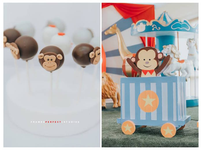 Monkey Business from a Carnival Animal Birthday Party on Kara's Party Ideas | KarasPartyIdeas.com (22)