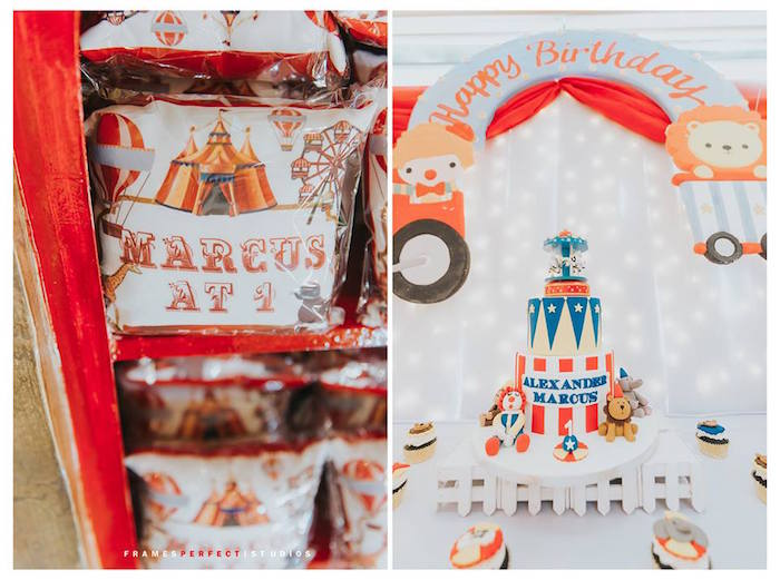 Carnival Party Favors from a Carnival Animal Birthday Party on Kara's Party Ideas | KarasPartyIdeas.com (19)