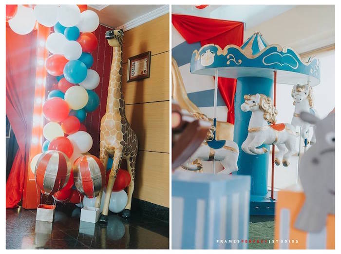 Carnival Party Decor from a Carnival Animal Birthday Party on Kara's Party Ideas | KarasPartyIdeas.com (16)