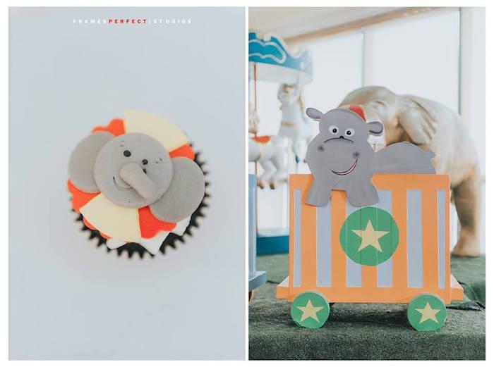 Elephant Train from a Carnival Animal Birthday Party on Kara's Party Ideas | KarasPartyIdeas.com (32)