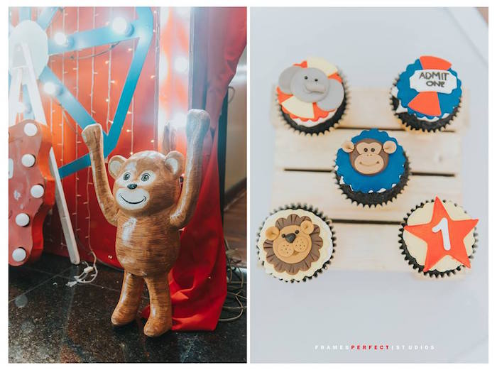 Carnival Cupcakes from a Carnival Animal Birthday Party on Kara's Party Ideas | KarasPartyIdeas.com (31)