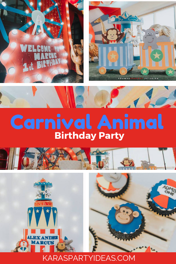Carnival Animal Birthday Partyvia Kara's Party Ideas - KarasPartyIdeas.com
