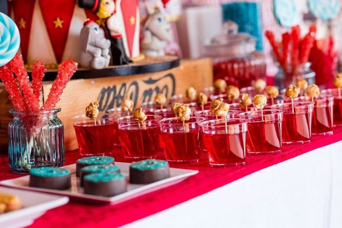 Circus-inspired Jello Cups from a Circus Carnival Birthday Party on Kara's Party Ideas | KarasPartyIdeas.com (23)
