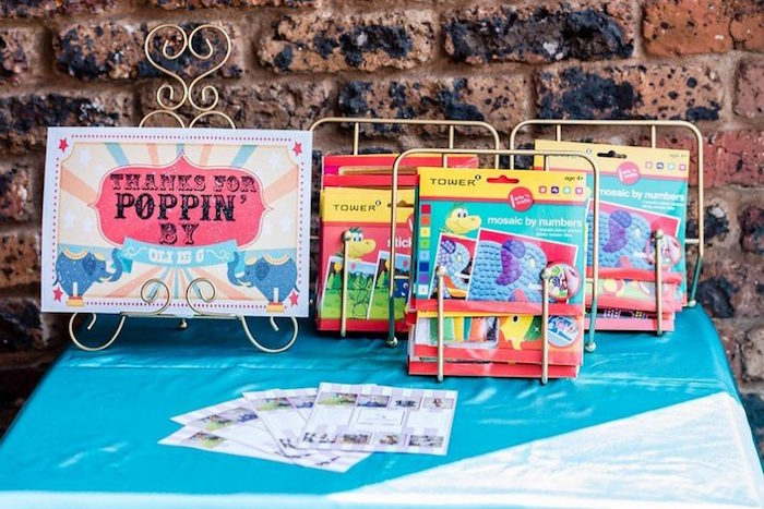 Favor Table from a Circus Carnival Birthday Party on Kara's Party Ideas | KarasPartyIdeas.com (19)