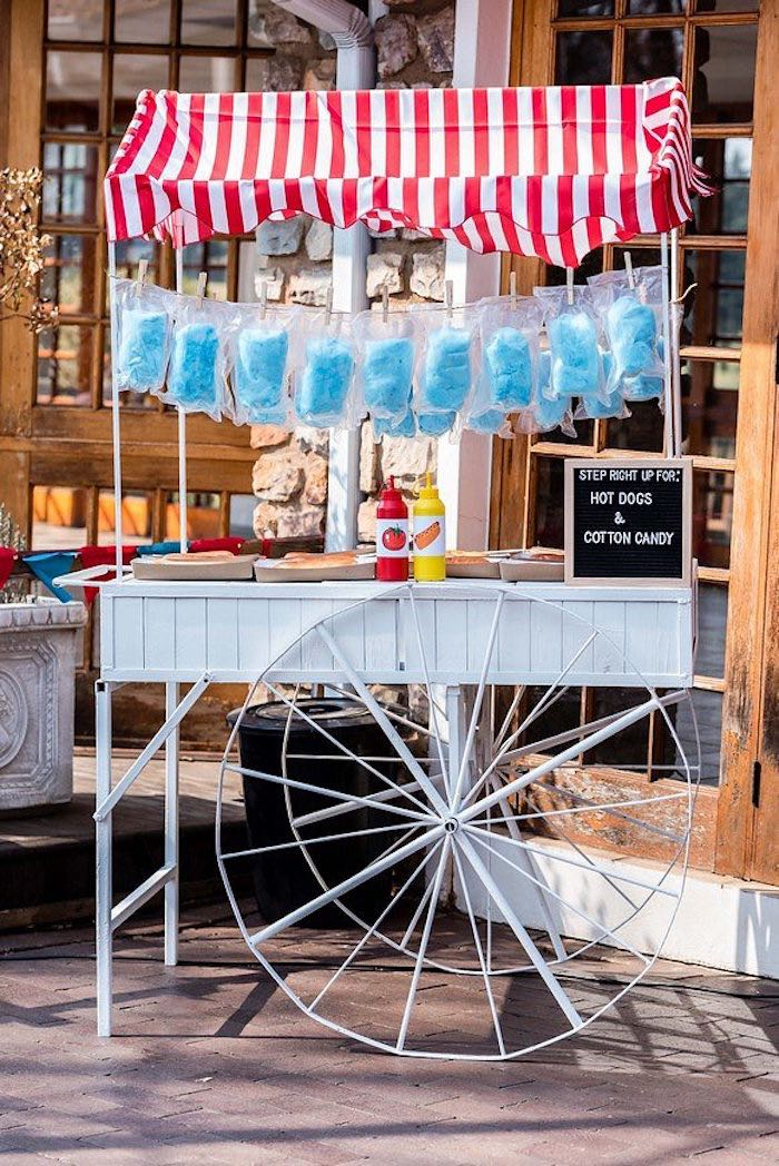 Hot Dog Stand + Cart from a Circus Carnival Birthday Party on Kara's Party Ideas | KarasPartyIdeas.com (15)