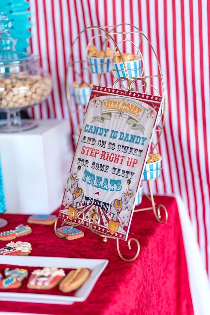 Circus Sign from a Circus Carnival Birthday Party on Kara's Party Ideas | KarasPartyIdeas.com (12)