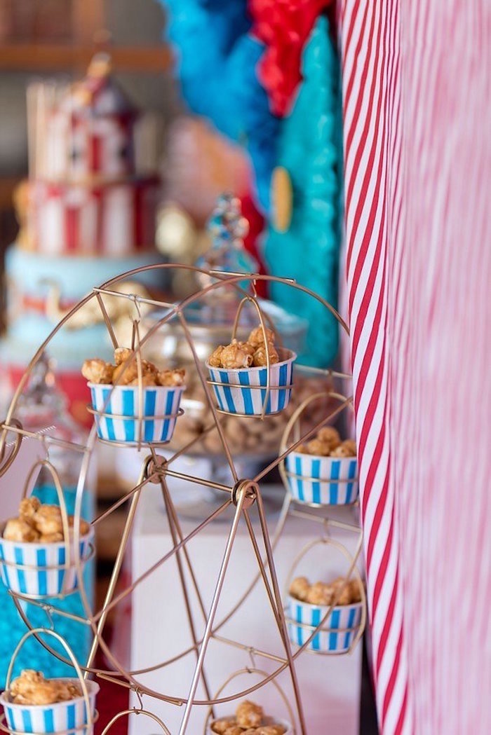 Cupcake Ferris Wheel from a Circus Carnival Birthday Party on Kara's Party Ideas | KarasPartyIdeas.com (11)