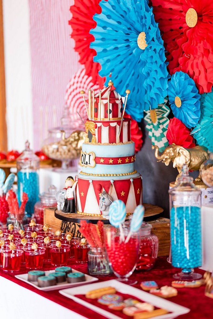Circus Party Table from a Circus Carnival Birthday Party on Kara's Party Ideas | KarasPartyIdeas.com (5)