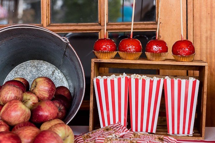 Apples & Snack Boxes from a Circus Carnival Birthday Party on Kara's Party Ideas | KarasPartyIdeas.com (27)