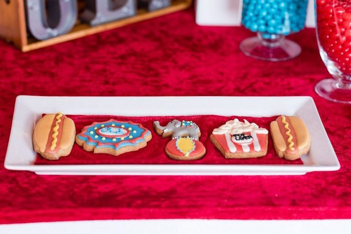 Circus/Carnival Cookies from a Circus Carnival Birthday Party on Kara's Party Ideas | KarasPartyIdeas.com (25)