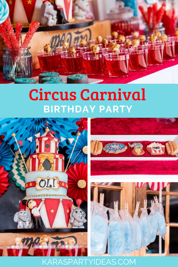 Circus Carnival Birthday Party via Kara's Party Ideas - KarasPartyIdeas.com