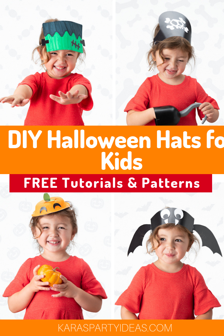 DIY Halloween Hats for Kids- FREE Tutorials & Patterns via Kara's Party Ideas - KarasPartyIdeas.com