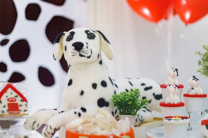 Plush Dalmatian Dog from a Dalmatian Inspired Puppy Birthday Party on Kara's Party Ideas | KarasPartyIdeas.com (12)