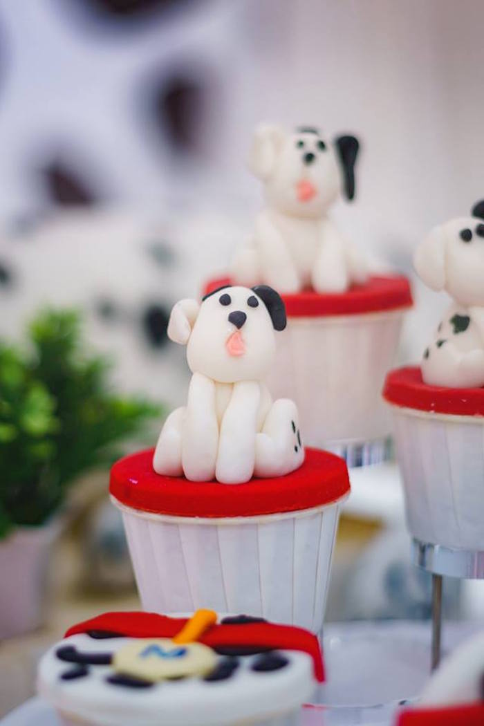 Dalmatian Dog Cupcakes from a Dalmatian Inspired Puppy Birthday Party on Kara's Party Ideas | KarasPartyIdeas.com (20)