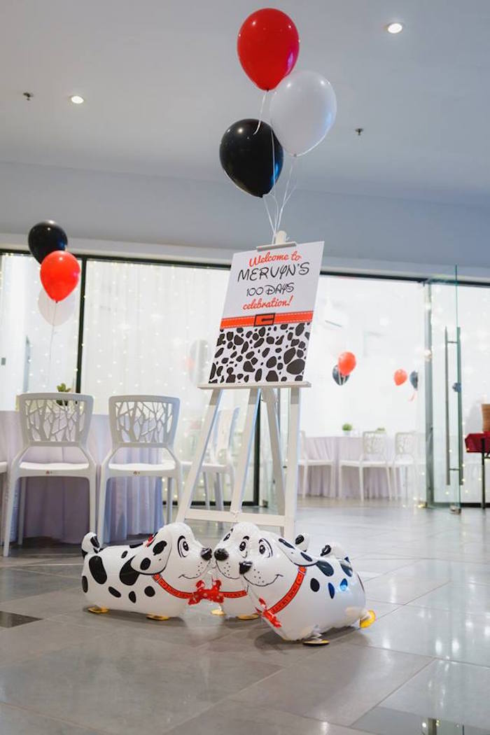 Welcome Signage + Decor from a Dalmatian Inspired Puppy Birthday Party on Kara's Party Ideas | KarasPartyIdeas.com (18)
