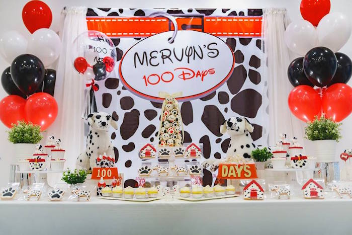 Dalmatian Inspired Puppy Birthday Party on Kara's Party Ideas | KarasPartyIdeas.com (17)