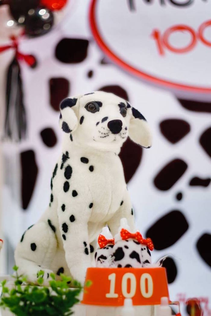 Plush Dalmatian + Decoration from a Dalmatian Inspired Puppy Birthday Party on Kara's Party Ideas | KarasPartyIdeas.com (15)