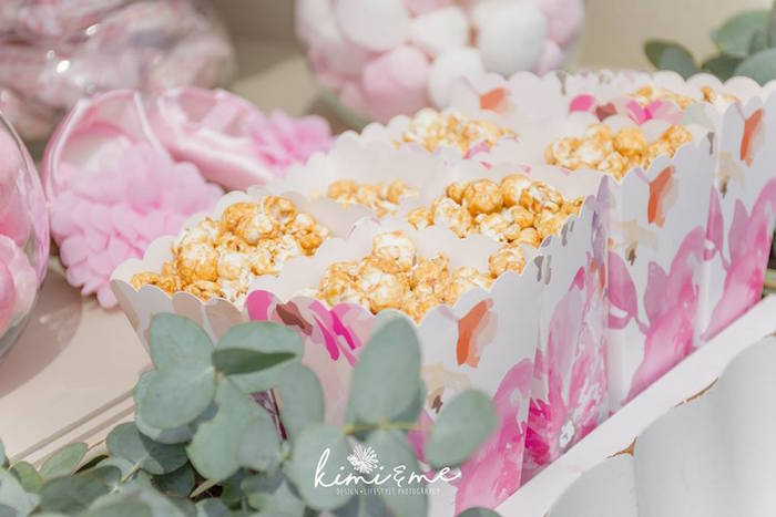 Popcorn from an Elegant Swan Baby Shower on Kara's Party Ideas | KarasPartyIdeas.com (5)