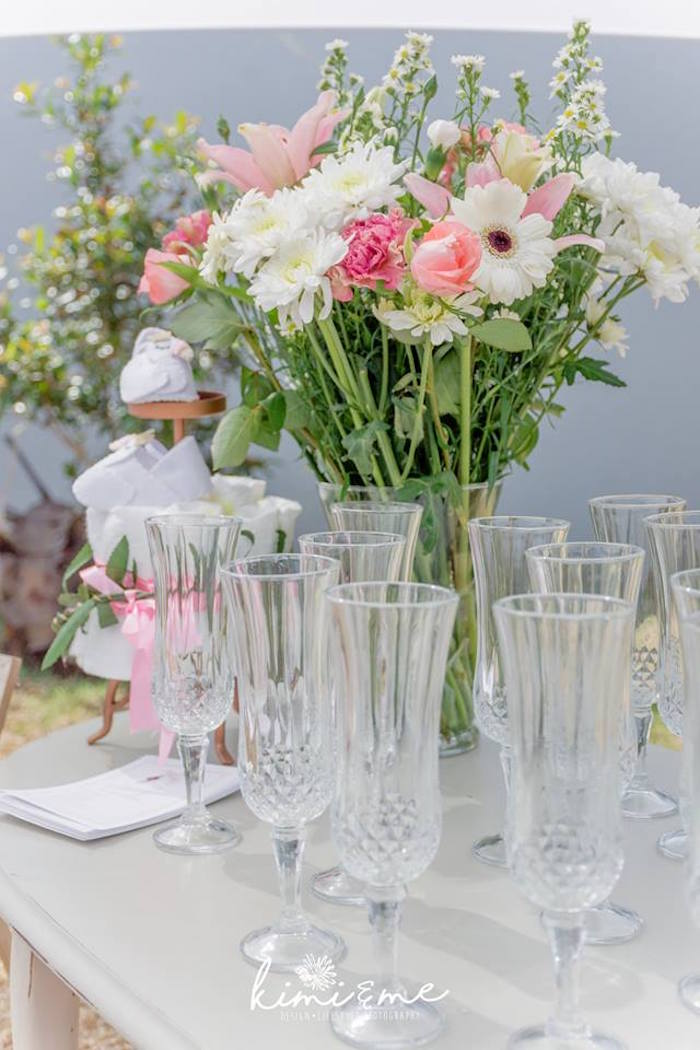 Crystal Flutes from an Elegant Swan Baby Shower on Kara's Party Ideas | KarasPartyIdeas.com (26)