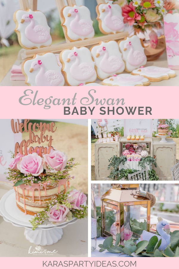 Elegant Swan Baby Shower via Kara's Party Ideas - KarasPartyIdeas.com