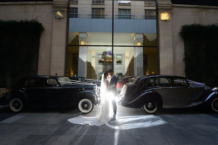 Vintage Vehicle Bride & Groom Shot from a Fairy Tale Wedding on Kara's Party Ideas | KarasPartyIdeas.com (23)