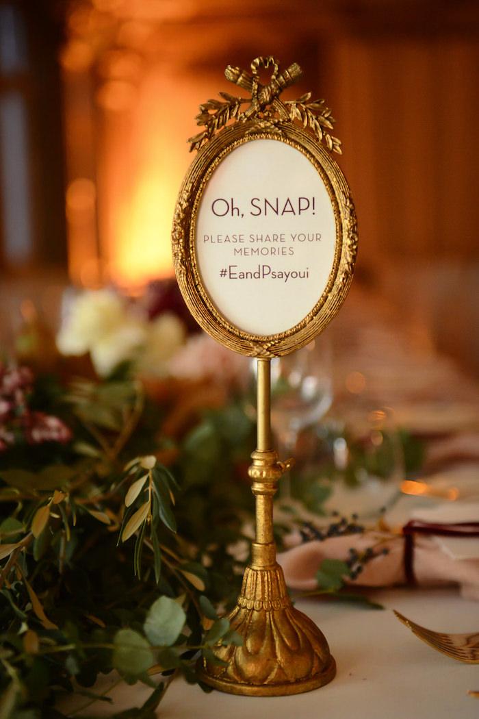 Table Signage + Decor from a Fairy Tale Wedding on Kara's Party Ideas | KarasPartyIdeas.com (14)