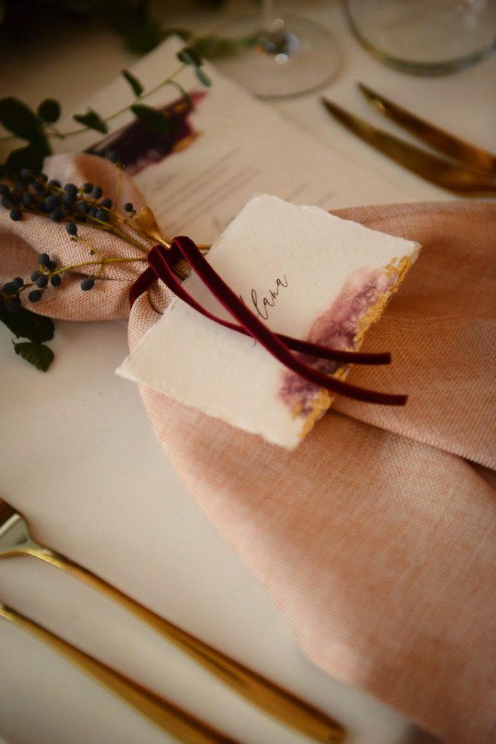 Table Setting from a Fairy Tale Wedding on Kara's Party Ideas | KarasPartyIdeas.com (12)