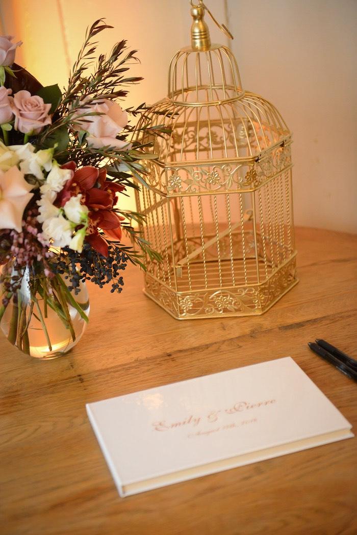 Signing Table from a Fairy Tale Wedding on Kara's Party Ideas | KarasPartyIdeas.com (10)
