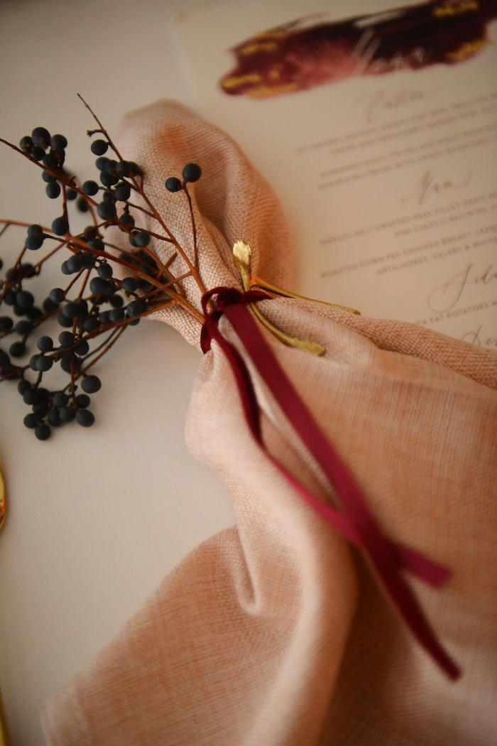 Napkin from a Fairy Tale Wedding on Kara's Party Ideas | KarasPartyIdeas.com (8)