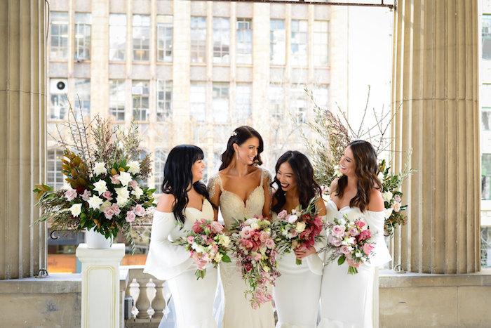 Bridesmaids from a Fairy Tale Wedding on Kara's Party Ideas | KarasPartyIdeas.com (28)