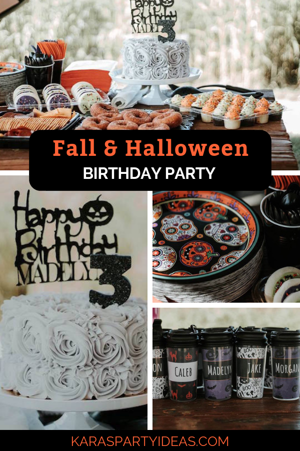 Fall & Halloween Birthday Party via Kara's Party Ideas - KarasPartyIdeas.com
