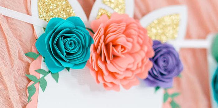 Flowers & Unicorns Birthday Party on Kara's Party Ideas | KarasPartyIdeas.com (2)