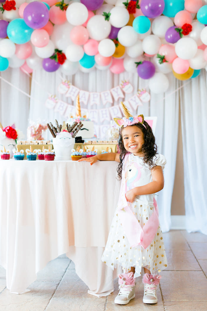 Flowers & Unicorns Birthday Party on Kara's Party Ideas | KarasPartyIdeas.com (32)