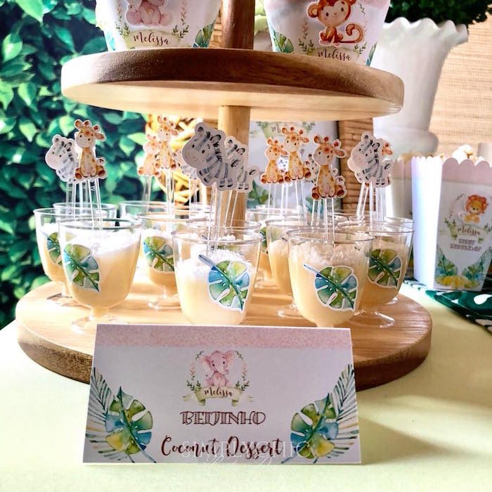 Coconut Dessert Cups from a Girly Jungle Birthday Party on Kara's Party Ideas | KarasPartyIdeas.com (4)