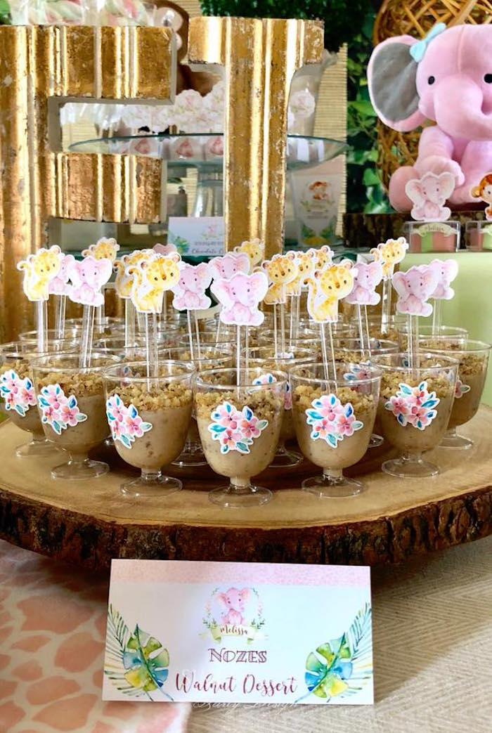 Walnut Dessert Cups from a Girly Jungle Birthday Party on Kara's Party Ideas | KarasPartyIdeas.com (15)