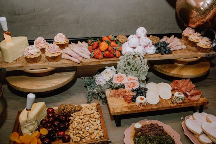 Modern Food + Dessert Tabletop from a Glam Floral Baby Shower on Kara's Party Ideas   KarasPartyIdeas.com (21)