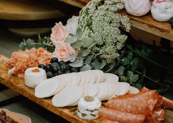 Charcuterie Platter from a Glam Floral Baby Shower on Kara's Party Ideas | KarasPartyIdeas.com (18)