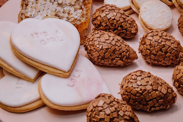Cookies and Truffles from a Glam Floral Baby Shower on Kara's Party Ideas | KarasPartyIdeas.com (14)
