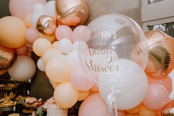 Balloons from a Glam Floral Baby Shower on Kara's Party Ideas | KarasPartyIdeas.com (10)