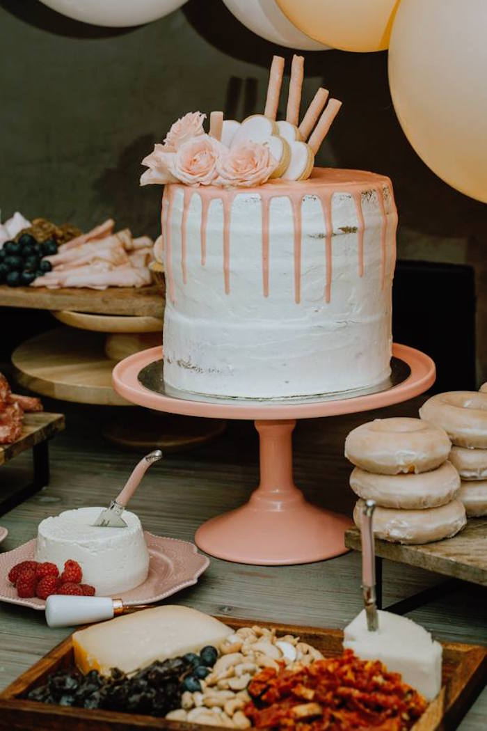 Rose Drip Cake from a Glam Floral Baby Shower on Kara's Party Ideas   KarasPartyIdeas.com (26)