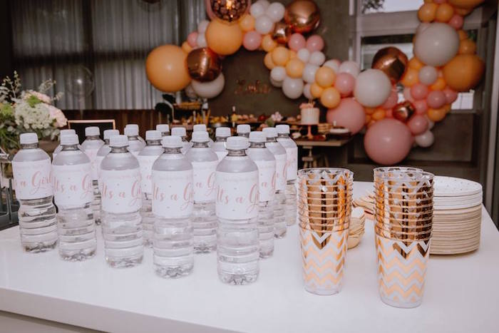 Drinks + Partyware from a Glam Floral Baby Shower on Kara's Party Ideas | KarasPartyIdeas.com (22)