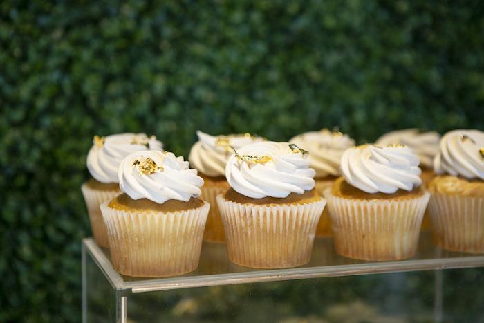 Cupcakes from a Gold Safari 1st Birthday Party on Kara's Party Ideas | KarasPartyIdeas.com (17)
