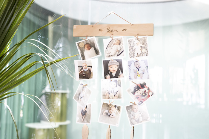 Safari-inspired Photo Banner from a Gold Safari 1st Birthday Party on Kara's Party Ideas | KarasPartyIdeas.com (22)