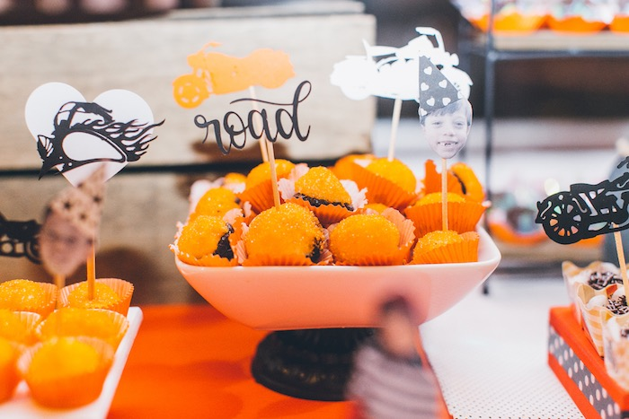 Harley Davidson Themed Sweet Toppers from a Harley Davidson Birthday Party on Kara's Party Ideas | KarasPartyIdeas.com (9)