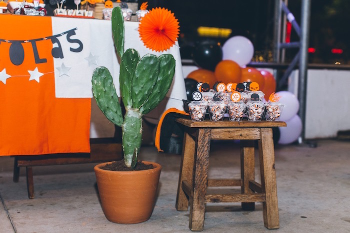 Cactus Plant + Decoration from a Harley Davidson Birthday Party on Kara's Party Ideas | KarasPartyIdeas.com (26)