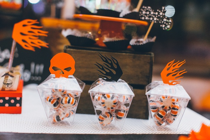 Candy Cups from a Harley Davidson Birthday Party on Kara's Party Ideas | KarasPartyIdeas.com (7)